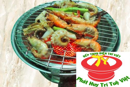 Bếp than điện inox Trí Việt